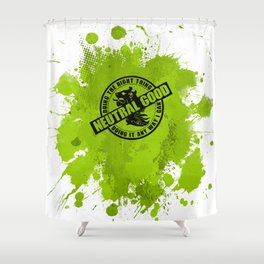 Neutral Good RPG Game Alignment Shower Curtain