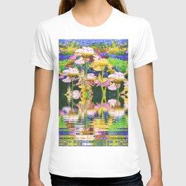 YELLOW IRIS WATER GARDEN REFLECTIONS T-shirt