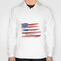 american flag Hoodies featuring American Flag by Jenny Highsmith