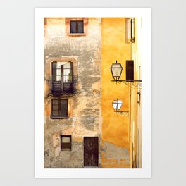 Yellow and Old Wall Art Print
