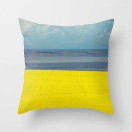 Canola Coast Throw Pillow
