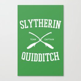 Hogwarts Quidditch Team: Slytherin Canvas Print