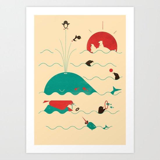 Arctic Playground Art Print