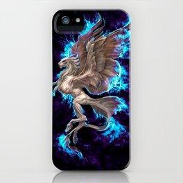 White Electric Phoenix iPhone Case