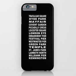 London Bus Roll iPhone Case