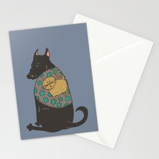 Black Dog in a Kitten Coat Stationery Cards