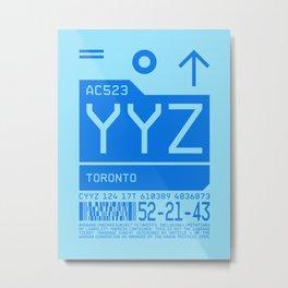 Baggage Tag C - YYZ Toronto Canada Metal Print