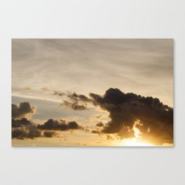 the sky during sunset Canvas Print