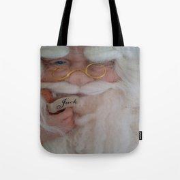 Up close with Santa Tote Bag
