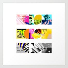 NOISE, NOISE, NOISE [COLLAGE] Art Print
