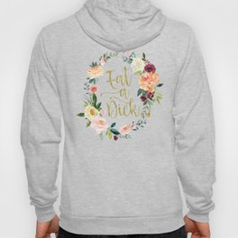 Watercolor Cuss Words - Eat a Dick - Gold Hoody