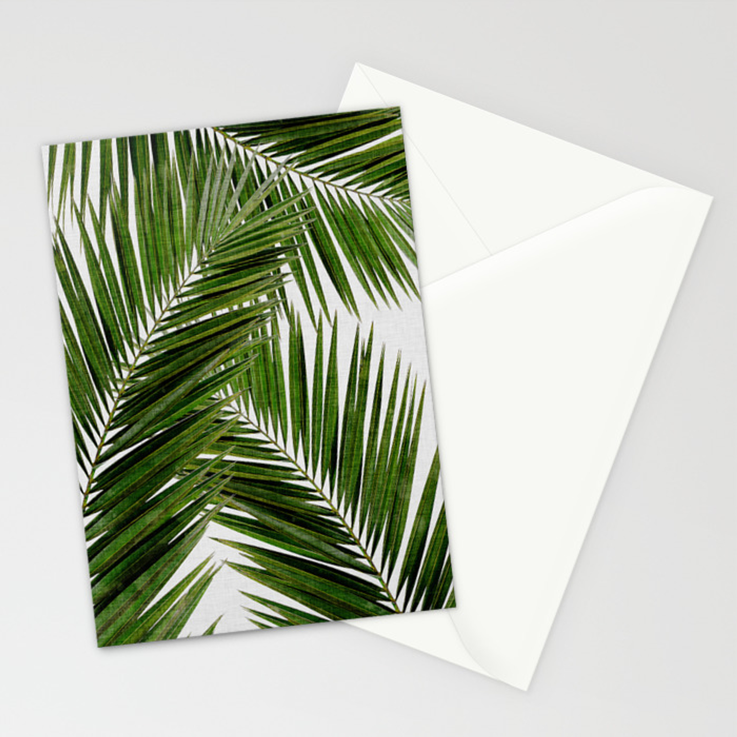 Palm Leaf Iii Stationery Cards By Paperpixelprints Society6