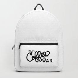 Coffee Not War (Black) Backpack