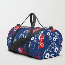 Video Game Red White & Blue 2 Duffle Bag