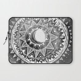 Grey Moon Mandala Laptop Sleeve
