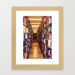 Library Books Framed Art Print