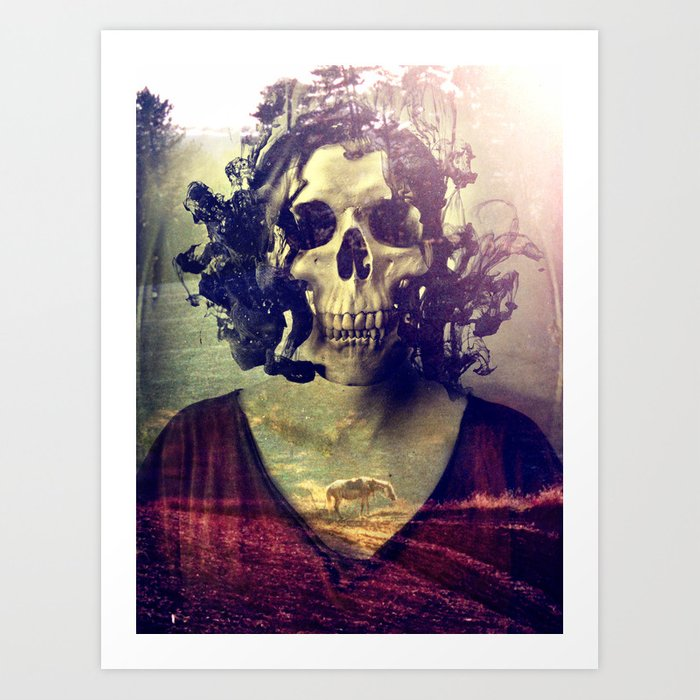 Miss Skull Art Print