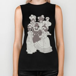 Vintage Ladies APRICOT / Vintage illustration redrawn and repurposed Biker Tank
