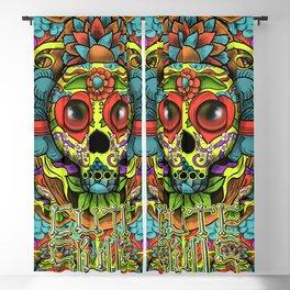 Cute Skull Dia de Los Muertos Blackout Curtain