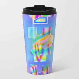Abstract lighteffects -22- Fantasy on ice Travel Mug