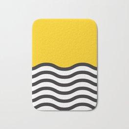 Waves of Yellow Bath Mat