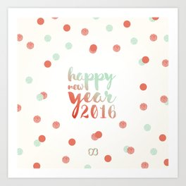 Voeux 2016 Art Print