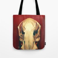 platypus Tote Bags featuring Platypus Skull by Noa Katzir