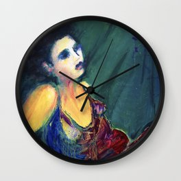 The Woman in the Red Dress Wall Clock