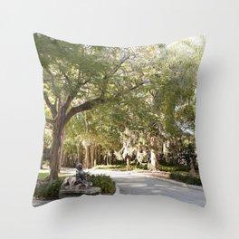 Dreamy Garden Path Throw Pillow