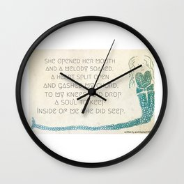 cord is spelled with an h Wall Clock