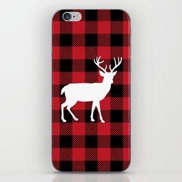 Buffalo Plaid - Deer iPhone Skin