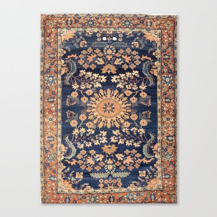 Sarouk Persian Floral Rug Print Leinwanddruck