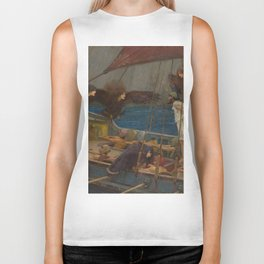 Ulysses and the Sirens by John William Waterhouse Biker Tank