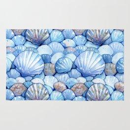 Sea Shells Aqua Rug