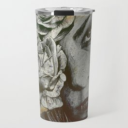 Of Suffering: Autumn (dark lady portrait with roses) Travel Mug