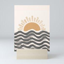 Waft Sun-Grey Mini Art Print