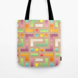 Abstract Colorful Labyrinth Tote Bag