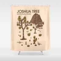 the national Shower Curtains featuring Joshua Tree National Park by Hinterlund