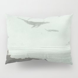 Flying Whales Pillow Sham