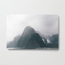 Misty Milford Mountains Metal Print