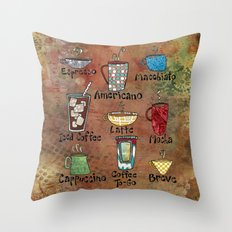 Coffees Make Me Happy Throw Pillow