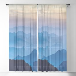 Mountains 11 Sheer Curtain