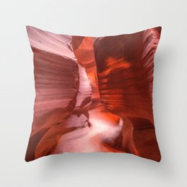 Path of Light - The Beauty of Antelope Canyon in Arizona Throw Pillow
