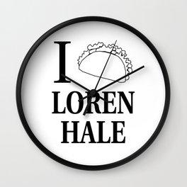 I Taco Loren Hale Wall Clock
