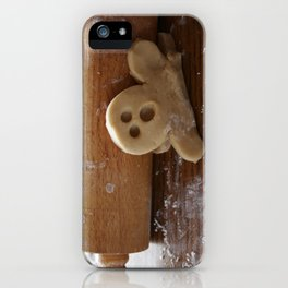 Ginger bread man and rolling pin iPhone Case