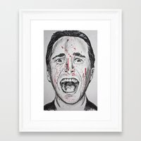 american psycho Framed Art Prints featuring American Psycho by Haley Erin