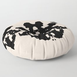 Black Rorschach inkblot Floor Pillow