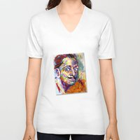salvador dali V-neck T-shirts featuring salvador dali by yossikotler
