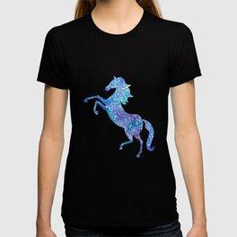 Celestial rearing blue horse T-shirt