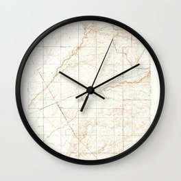 Kismet, CA from 1948 Vintage Map - High Quality Wall Clock